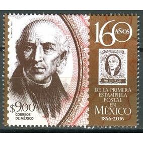 Sc 3013 Año 2016 160 Años De La Primera Estampilla Postal E
