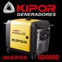Grupo Generador Kipor Ig6000 Inverter Garantia T/ Honda Eu70
