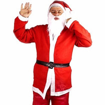 Fantasia Papai Noel Adulto Em Cetim
