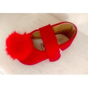 Zapato Valerina Rojo Niña