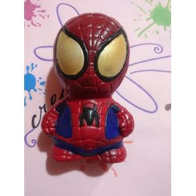 Alcancia Hombre Araña Super Heroe Ceramica 15cm Recuerdo Pza