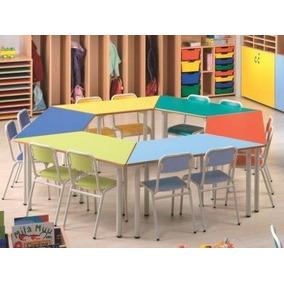 Mesas Escolares Trapezoidales - Fabrica