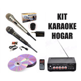 2 Microfonos + Amplificador Efectos + 5 Mil Karaokes Impreso