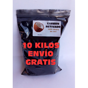 Carbon Activado 10 Kilos Envio Gratis Cascara De Coco