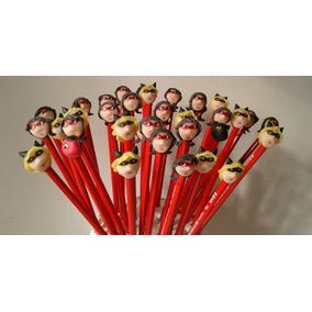 Lapices Ladybugs Souvenirs Con Apliques En Porcelana Fria