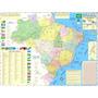 Brasil - Mapa Geo Político Rodoviário Gigante - Frete Grátis