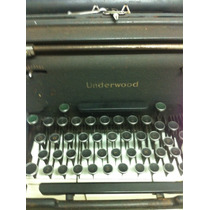 Underwood Máquina De Escrever Antiga Raridade Toda Original