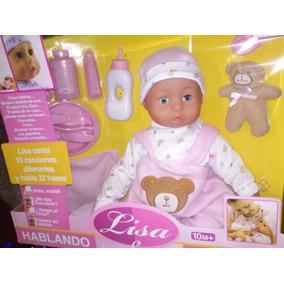 Muñeca Lisa Canta 10 Canciones Habla 22 Frases Juguete 46cm