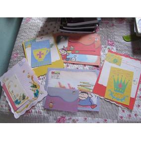 Lote 1: Com 5 Papeis De Carta Com Envelopes