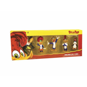 Kit C/ 5 Figuras 9 Cm Brincando Com A Turma Pica Pau - Dtc