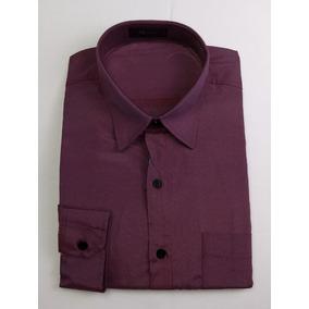 Camisa Social Masculina Bordo Vinho Plus Size Lançamento