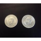 Monedas 2 De 5 Pesos Hodalgo Grde. Ley 0.720 Años 1953 Las 2