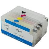 Cartucho Recarregavel Hp 711 Plotter T520 T120 36 Chip Full