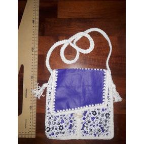 Cartera, Chica Artesanal, Tejida Crochet Ecocuer Estampado