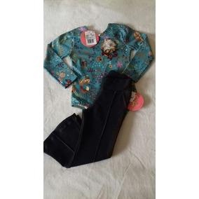 Conjunto Calça Flaer Coton Jeans Com Body Infantil Feminino