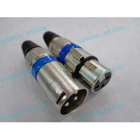 Conector Xlr Canon Macho Hembra 3 Pin Para Microfono