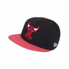Gorra New Era Nba-59fifty Chicago Bulls- Negro/ Rojo