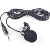 Mini Microfone De Lapela + Adaptador P3 / P2