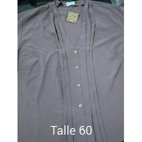 Camisola Blusa Gasa Mangas Largas Talle 60