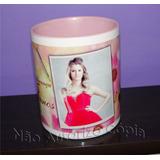 Caneca Ceramica Alça E Interior Rosa Personalizada 15 Anos