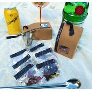 Kit Gin Tônica Caixa Com Especiarias Com Dosador Colher Inox