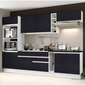 Cozinha Completa Com Balcão Sem Pia E Tampo 7 Peças Id