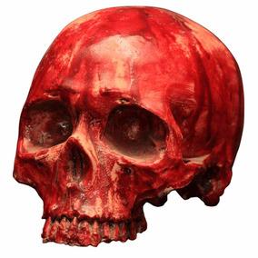 Cráneo Decorativo Rojo Halloween