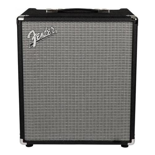 Amplificador Fender Rumble Series 100 para bajo de 100W color negro/plata 120V