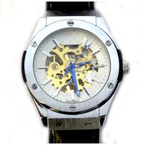 Reloj Skeleton Gold Tipo Silver S 24k Automatico Hublo