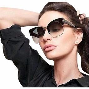 4d06f77f86699 Óculos De Sol Grande Quadrado Gatinho Tmfd 0552 Frete Brind