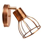 Aplique Pared Jaula 1 Luz Vintage Cobre Ideal Filamento Led