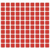 Decoração - Pastilhas Adesivas Resinadas - Vermelho Vivo