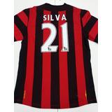 Camiseta Manchester City Suplente 2014 Umbro Silva 21