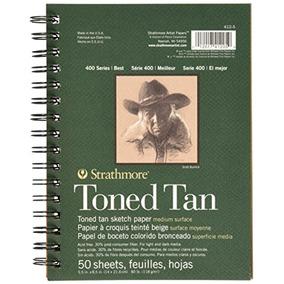 Caderno De Desenho Sketchbook Moleskine Strathmore Toned Tan