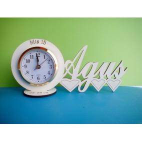 40 Souvenirs Reloj/nombre Personalizado 15 Años Bodas Cumple