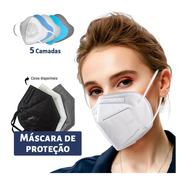 Kit 100 Máscaras Kn95 Proteção 5camada Respiratória Pff2 N95