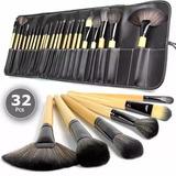 Set Profesional De 32 Brochas Y Pinceles Para Maquillaje