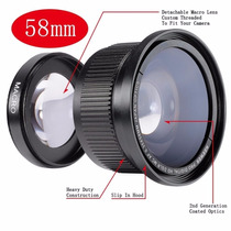 Lente Fisheye Olho De Peixe 58mm 0.35x + Macro - Nikon Canon