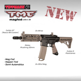 Tippmann Tmc Magfed Marcadora Pistola Rifle Paintball Gotcha