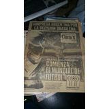 Tapa Y Contratapa Diario Clarin 1 De Junio 1978 Mundial