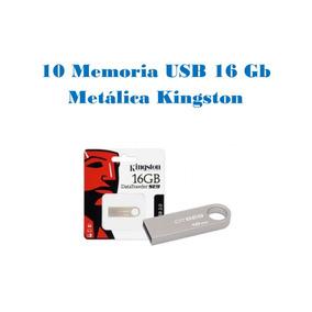 Lote/paquete 10 Memoria Usb 16 Gb Metálica Kingston Pc,mac