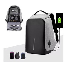Mochila Backpack Antirrobo Impermeable Puerto Usb Laptop Tab