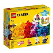 Lego Classic  Blocos Transparentes Criativos - 11013 500 Pçs