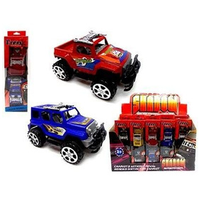 Carrinho Jeep De Fricção Com 2 Unidades Brinquedo Infantil