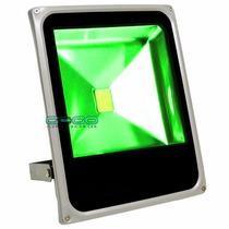 Refletor Holofote Led 20w Verde A Prova Dágua Ip Bivolt
