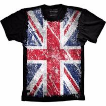 Camiseta Bandeira Inglaterra Camisa England Masculina Adulto