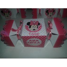 Minnie Rosa Ou Vermelha Caixa Bala Personalizada Outros Tema