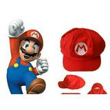 Gorro Rojo Y Verde De Tela Mario Bros Y Luigi Talla Adulto