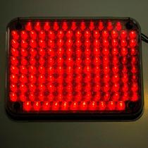 Plafón Estrobo Para Ambulancia De 134 Leds Rojos 2 Funciones