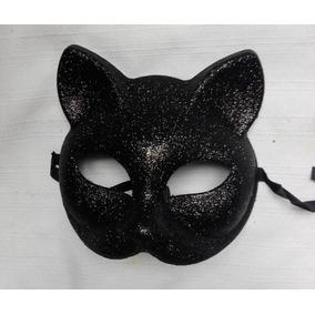 Antifaz Gato Felina Negro Halloween Disfraz Accesorio Sexy